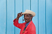 Cuban man with cigar, Havana, Cuba, West Indies, Central America