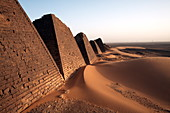 The pyramids of Meroe, Sudan's most popular tourist attraction, Bagrawiyah, Sudan, Africa