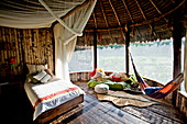 A hotel room at Kapawi Ecolodge, Amazon, Ecuador, South America