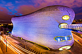 Selfridges Department Store, Bull Ring Shopping Centre at dusk, Birmingham, West Midlands, England, United Kingdom, Europe