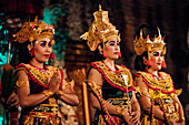 Traditional Balinese Dance Performance, Ubud, Bali, Indonesia, Southeast Asia, Asia
