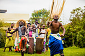 Tänzer, Bwindi Impenetrable Forest National Park, Uganda, Ostafrika, Afrika