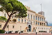 Fürstenpalast von Monaco, Côte d'Azur, französische Riviera, Mittelmeer, Frankreich, Europa