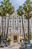 Carlton Hotel in Cannes, Alpes Maritimes, Côte d'Azur, Provence, Französische Riviera, Frankreich, Mittelmeer, Europa
