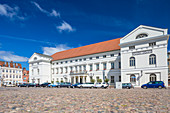Town hall in Wismar, located at Marktplatz in the centrum of the city, Wismar stadt, Mecklenburg–Vorpommern, Germany.