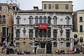 Facade of the Malipiero Palace, Venice, Italy