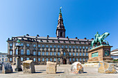 Christiansborg Palace has an 800 year-long history as Denmark's centre of power, Copenhagen,  Zealand, Denmark