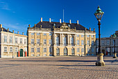 Amalienborg, 18th-century rococo complex of palaces. Christian IX's palace, Copenhagen,  Zealand, Denmark