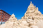 Havnegade Harbour Promenade. Festival of sand sculptures, Copenhagen, Zealand, Denmark
