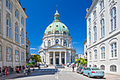 Frederik's Church (Danish: Frederiks Kirke), popularly known as The Marble Church (Marmorkirken) for its rococo architecture, Copenhagen, Zealand, Denmark