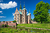 Rosenborg Castle, 17th century palace builded in a style of Dutch Renaissance, Royal Garden Rosenborg, Kongens Have, Copenhagen, Zealand, Denmark