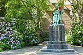 Soren Kierkegaard bronze statue in the Royal Library Garden (Bibliotekshaven), Copenhagen, Zealand, Denmark