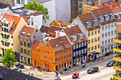 Houses on the corner of Overgaden Neden Vandet street and Torvegade street, Copenhagen, Zealand, Denmark