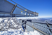 Viewing platform AlpspiX at Osterfelderkopf (2,057 m) in the Wetterstein Mountains, Grainau near Garmisch-Partenkirchen, Werdenfelser Land, Upper Bavaria, Bavaria, Southern Germany, Germany, Europe