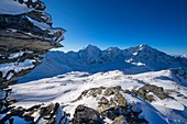 Ski area in the Ortler area, Sulden, Vinschgau, South Tyrol, Italy