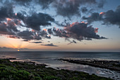 Sunset on the coast at De Kelters, Gansbaai, Garden Route, South Africa, Africa