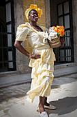 Cuban woman with cigar in Havana, Cuba