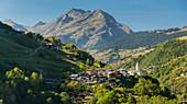 Mountain village of Mairie de Villaroger, Savoy, France
