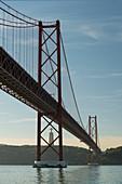 Ponte 25 de Abril, Cristo Rei statue, Tajo River, Lisbon, Portugal