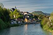 Steinbach an der Steyr, Fluss Steyr, Oberösterreich, Österreich