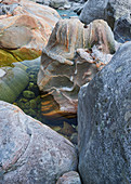 Rocks in the Verzasca Valley, Ticino, Switzerland