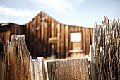 Wooden fence in the ghost town of Bodie. Eastern Sierra, California, United States.