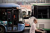 busy city traffic, Guangzhou, Guangdong Province, China