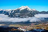 Blick von der Ehrwalder Alm auf Ehrwald und Daniel, Tirol, Österreich