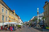 Old square with trinity column, Klagenfurt, Carinthia, Austria