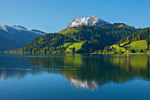 Fluebrig mit Wägitaler See, Glarner Alpen, Innerthal, Kanton Schwyz, Schweiz