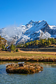 See am Simplonpass mit Wasenhorn, Wallis, Schweiz