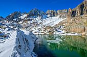 Sidelensee with Gr. Furkahorn, Uri Alps, Canton of Uri, Switzerland
