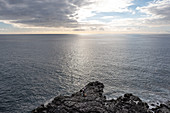 View of the Atlantic Ocean near Puerto Naos, La Palma, Canary Islands, Spain, Europe