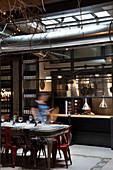 Rome, Italy, Interiors of Urbana 47 Restaurant, Rome, Italy