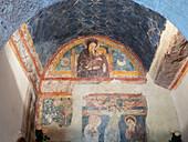 Eremo di Sant'Onofrio al Morrone, Majella National Park, Abruzzo, Italy: fresco detail