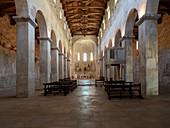 San Liberatore a Majella Abbey, Majella National Park, Abruzzo, Italy: Central nave