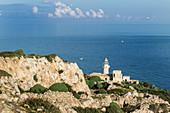 Capo Grosso lighthouse, Levanzo island, Sicily, Italy