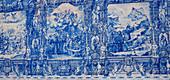 Blue mural in Porto, Portugal