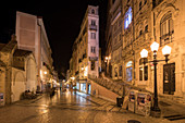 In the streets of Coimbra at night, Portugal