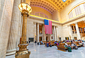 View of the interior of Union Station, Chicago, Illinois, United States of America, North America