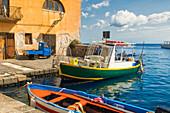 Fishermen's boats, Lipari, Aeolian Islands, UNESCO World Heritage Site, Sicily, Italy, Mediterranean, Europe