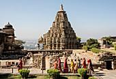 Mahasati pyre platforms, Chittorgarh (Fort), Chittor, Rajasthan, India, Asia
