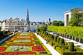 Cityscape at Mont des Arts Garden, Brussels, Belgium, Europe