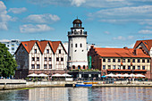 Fischerdorf am Fluss Pregel, Kaliningrad, Russland, Europa
