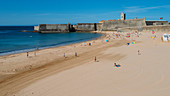 Torre Beach in Carcavelos, Lisbon region, Costa Verde, Portuguese Riviera, Portugal, Europe