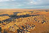 Sandstone landscape at Isalo National Park, Ihorombe Region, Fianarantsoa province, Madagascar, Africa