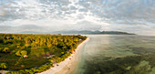 Beach at sunset, Gili Air, Gili Islands, Lombok Region, Indonesia, Southeast Asia, Asia