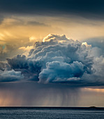 Regenwolke, Senja, Norwegen, Skandinavien, Europa