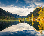 Hintersee in autumn, Berchtesgaden, Bavaria, Germany