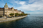Art Nouveau houses in Seestrasse, Constance, Lake Constance, Baden-Württemberg, southern Germany, Germany